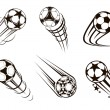 Soccer and football emblems — Stock Vector