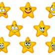 Постер, плакат: Yellow stars with happy emotions