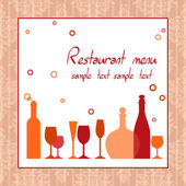Alcohol bar or restaurant menu — Stock Vector