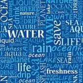 Bezešvé vody tagy mrak — Stock vektor