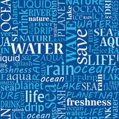 Nube de etiquetas de agua transparente — Vector de stock