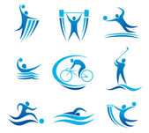 Sport simboli e pittogrammi — Vettoriale Stock