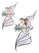 Young pretty bride — Stock Vector