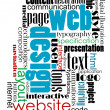 Tag cloud for web and internet design — Vektorgrafik