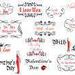 Romantic and Valentine's Day headers — Stock Vector