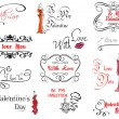Valentine's day design elements — Image vectorielle
