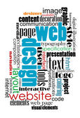 Tag cloud for web and internet design — Vettoriale Stock