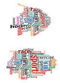 Sportovní tag cloud — Stock vektor