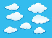 White clouds set — Stock Vector