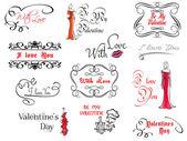 Valentine's day design elements — Stockvector