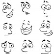 Cartoon faces with emotions — Stock Vector #30472699