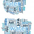 Stock Vector: Water tag cloud