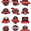 Banners and labels with ribbons — Stock Vector