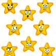 Stock Vector: Cartoon stars with different emotions