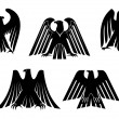 Silhouettes of eagles — Stock Vector