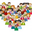 Heart of children and teenagers — Imagen vectorial
