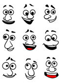 Emotional faces — Stock Vector