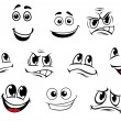 Cartoon faces set — Stock Vector #30698211