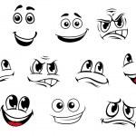 Cartoon faces set — Stock Vector