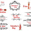 Valentine's Day messages and headlines — Stock Vector