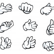 Set of hand gestures — Vettoriali Stock