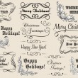 Christmas and New Year calligraphic headlines — Stock Vector