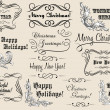 Stock Vector: Christmas and New Year calligraphic headlines