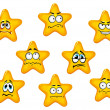 Yellow stars with negative emotions — Stock Vector