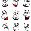Emotional faces set — Stock Vector