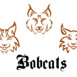Stock Vector: Bobcats and lynxs