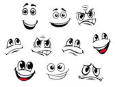 Cartoon faces set — Stock Vector