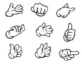 Set of hand gestures — Stock Vector