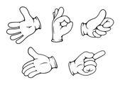 Pessoas gestos de mão — Vetor de Stock