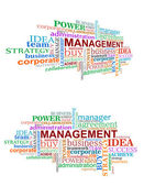 Cloud management tags — Stockvektor