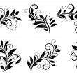 Set of floral design elements — Stok Vektör
