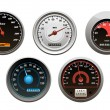 Car speedometers set — Stock Vector