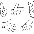 Set of positive hands gestures — Stock Vector