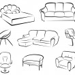 Furniture set — Image vectorielle
