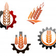 Agriculture symbols set — Stock Vector