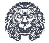 Danger heraldic lion — Stock Vector