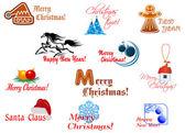 Winter holidays symbols — Stock Vector