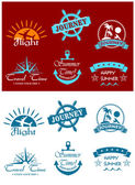 Travel and tourism symbols — Stock Vector