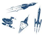 Uzay ve roket — Stok Vektör