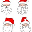Christmas Santa Clouses — Stock Vector