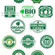 Natural and bio labels — Imagen vectorial