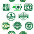Natural and bio labels — Stock Vector