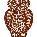 brązowy sowa — Wektor stockowy
