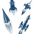Space ships and spacecrafts set — Stock Vector #31917915