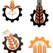 Agriculture icons and smbols — Stock Vector