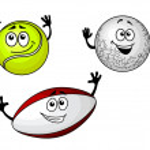 Golf, tennis and football balls — Stock Vector